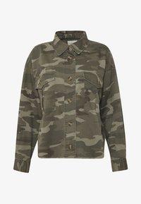 American Eagle - CORE CUTCROP MILTARY SHACKET - Button-down blouse - green - 5