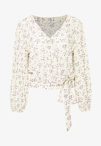 American Eagle - BLOUSON WRAP - Blouse - cream - 4