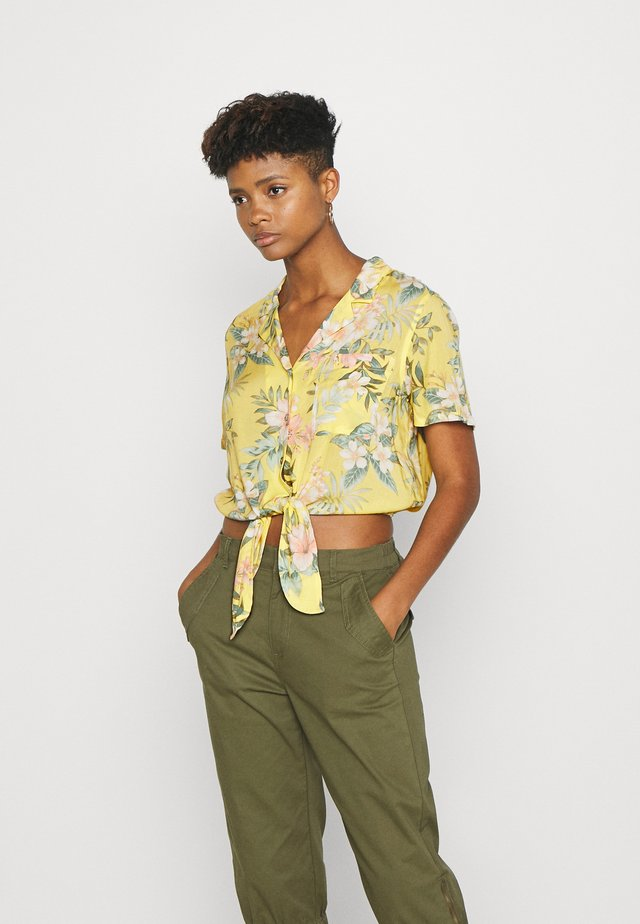 CORE TIEFRONT - Button-down blouse - yellow