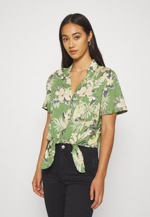 CORE TIEFRONT - Button-down blouse - green