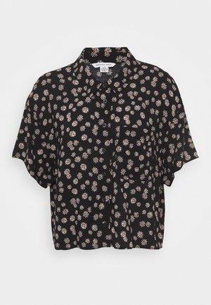 CORE CROP - Button-down blouse - black