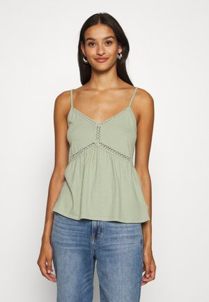 PEPLUM TANK   - Top - dusty sage