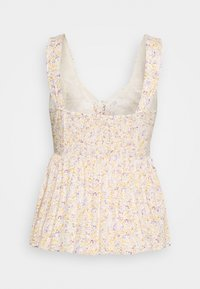 American Eagle - PRINTED LACEUP BABYDOLL - Camicetta - white - 1