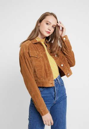 BOYFRIEND JACKET - Chaqueta fina - brown
