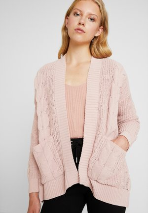 CABLE JEGGING CARDIGAN - Vest - blush