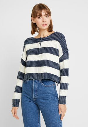 WASH RUGBY STRIPE HENLEY - Jumper - navy