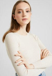 American Eagle - BODYCON - Jumper - cream - 3