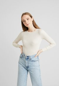 American Eagle - BODYCON - Jumper - cream - 0