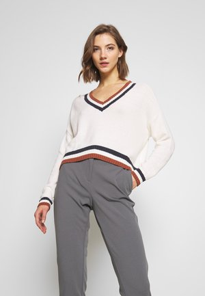 SLOUCHY TIPPED  - Jumper - cream