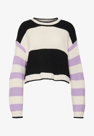 MIX STRIPE CROPPED  - Jumper - lavender