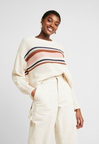 American Eagle - CHEST STRIPE SHAKER - Jumper - cream - 0