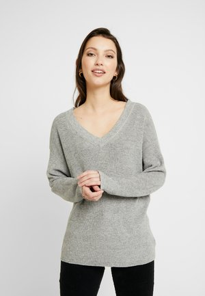 SOLID OVERSIZED  - Strikpullover /Striktrøjer - heather gray