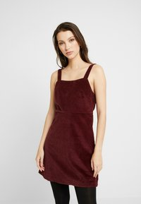 American Eagle - WIDE STRAP MINI - Robe d'été - burgundy - 0