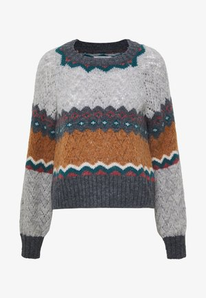 FEMME PATTERN TEXTURE MIX - Pullover - multi