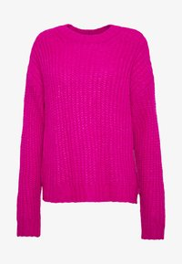 American Eagle - SLOUCHY CROPPED CABLE - Sweter - pink - 4