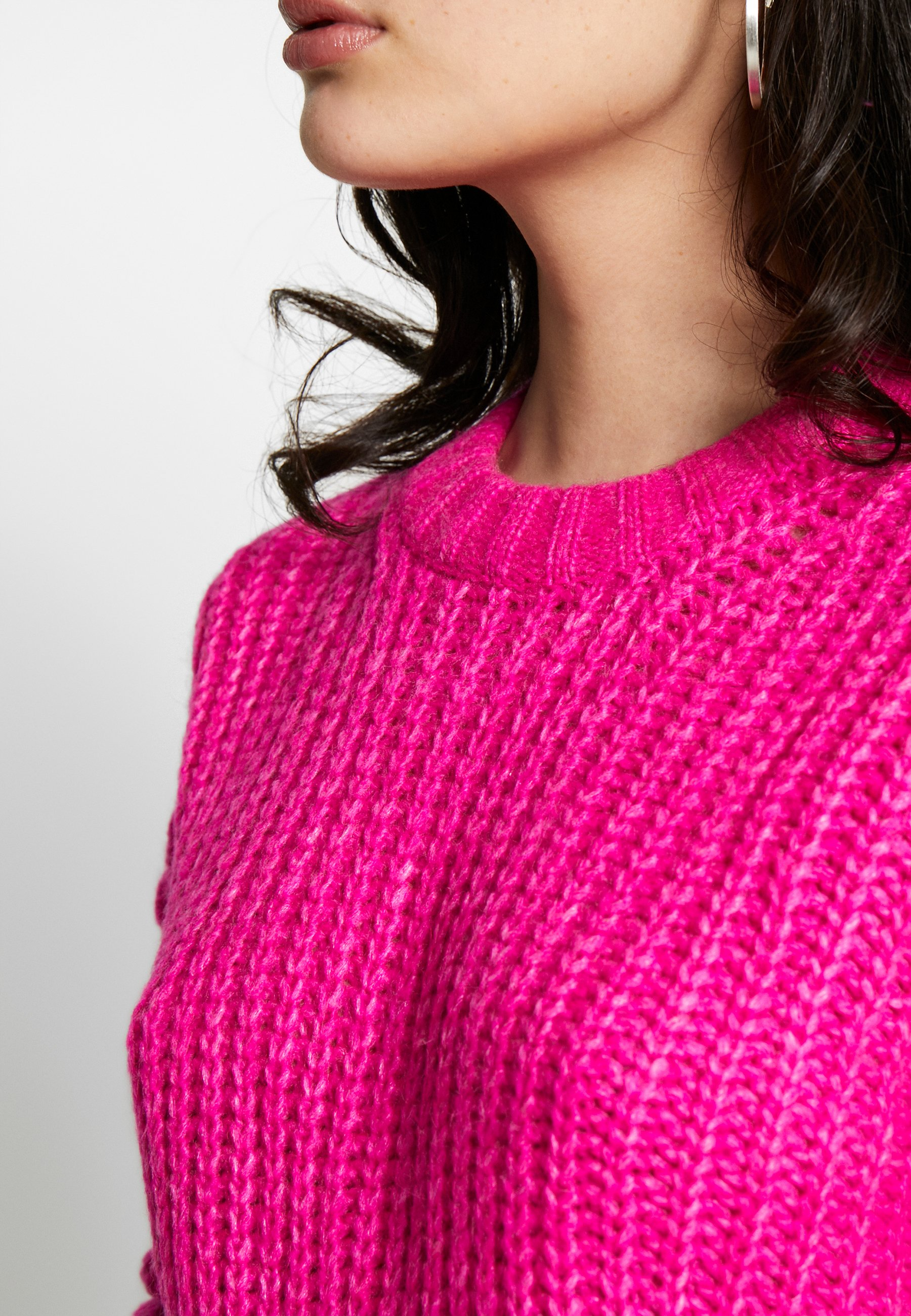 American Eagle Slouchy Cropped Cable - Jumper Pink