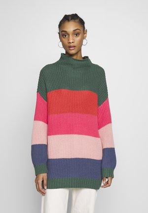 OVERSIZED COLORBLOCK  - Sweter - multi