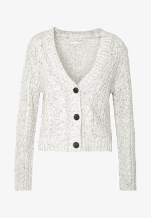 CROPPED CABLE CARDIGAN - Gilet - oatmeal