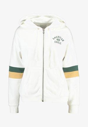 COLORBLOCK FULL ZIP - Zip-up hoodie - cream