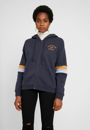 COLORBLOCK FULL ZIP - Mikina na zip - navy