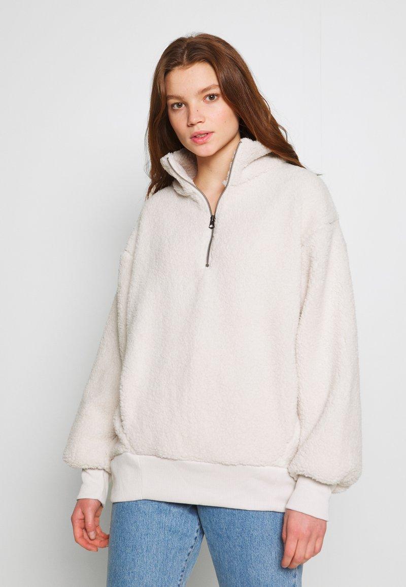 American Eagle - SHERPA QUARTER - Sweatshirt - cream