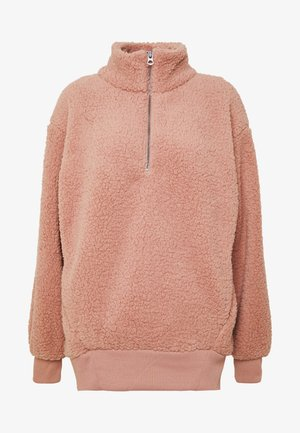 SHERPA QUARTER - Sweatshirt - blush