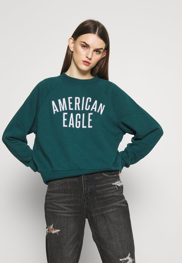 BRANDED CREW - Sweatshirt - teal