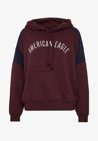 American Eagle - BRANDED HOODIE - Hoodie - burgundy - 3