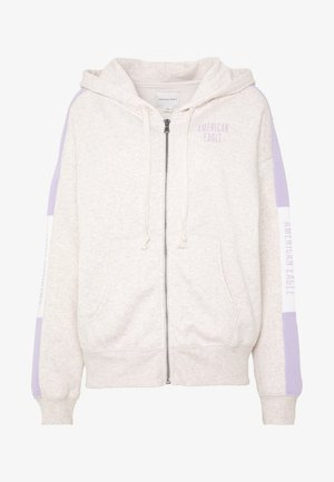 BRANDED FULL ZIP - Zip-up hoodie - oatmeal