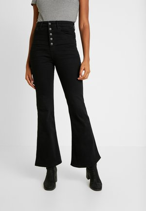 CURVY HIGHEST RISE - Flared jeans - bold black