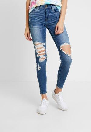 Jeans Skinny - broken glass blue