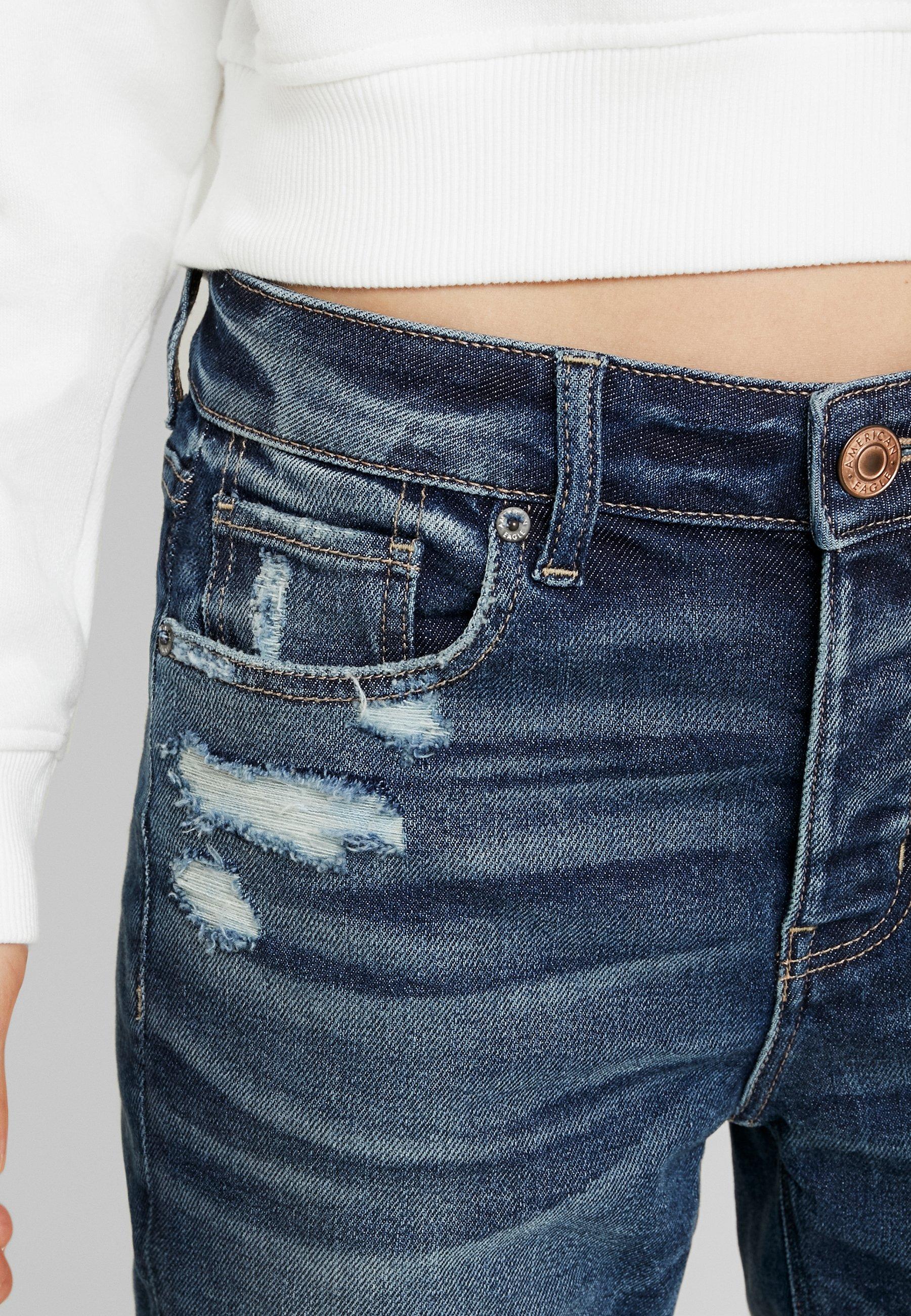 American Eagle MEDIUM DESTROY TOMGIRL - Jeans slim fit vintage star
