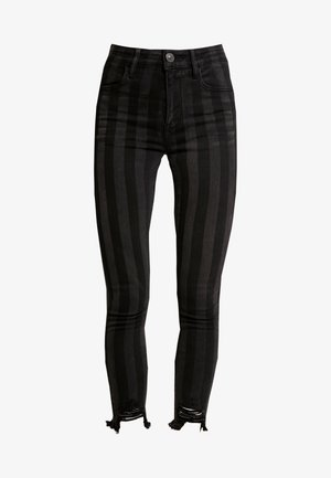SUPER HI-RISE CROP - Jeans Skinny Fit - black
