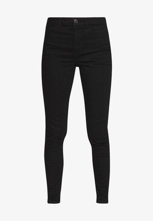 HI-RISE - Jeans Skinny Fit - true black