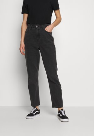 CURVY MOM - Jeansy Relaxed Fit - rocker black