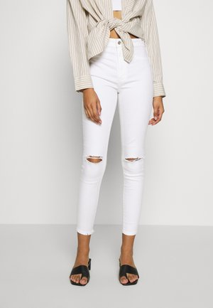 SUPER HI-RISE - Jeans Skinny - white out