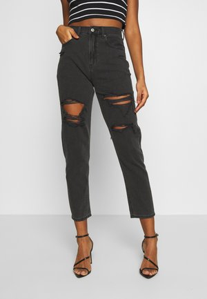 MOM JEAN - Slim fit jeans - black magic