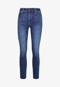 American Eagle - HIGH RISE CROP - Jeans Skinny Fit - medium wash - 3