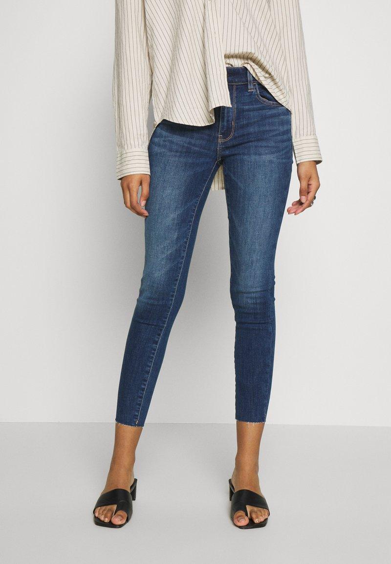 American Eagle - HIGH RISE CROP - Jeans Skinny Fit - medium wash