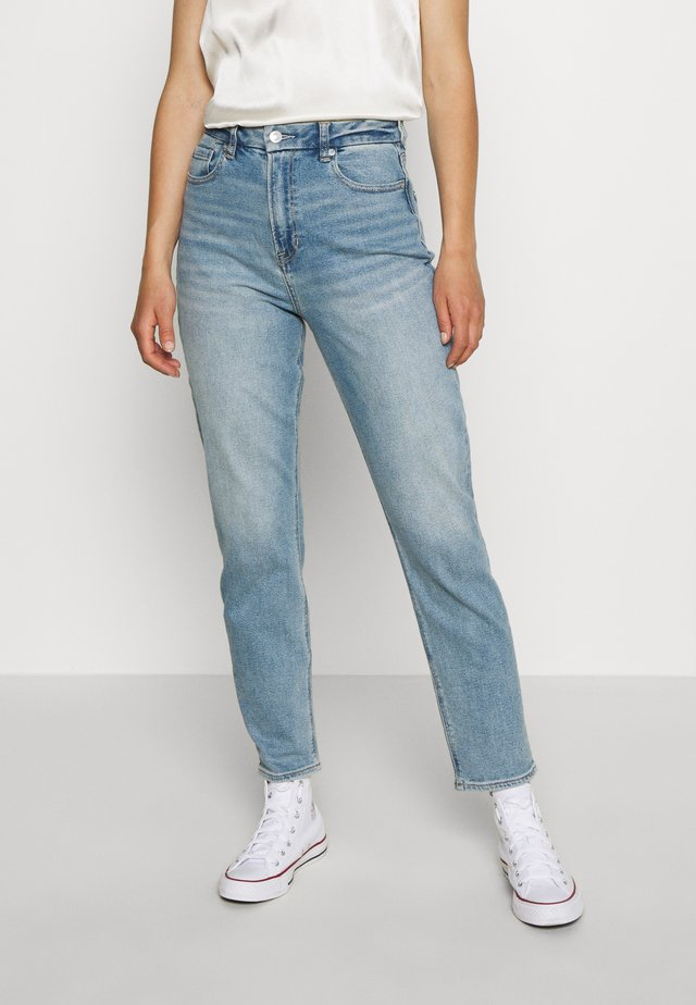 CURVY MOM - Jeans slim fit - destroyed denim