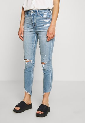CURVY HI-RISE CROP - Jeansy Skinny Fit - destroyed bright