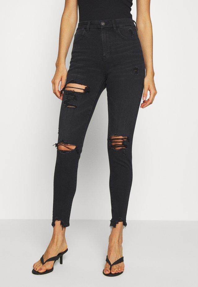 SUPER HI RISE DREAM - Jeans Skinny Fit - washed black