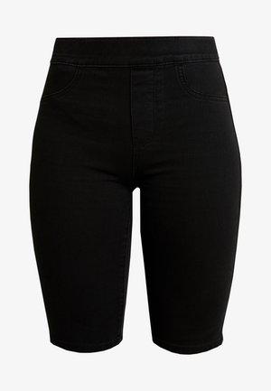 PULL ON BIKER - Short en jean - black