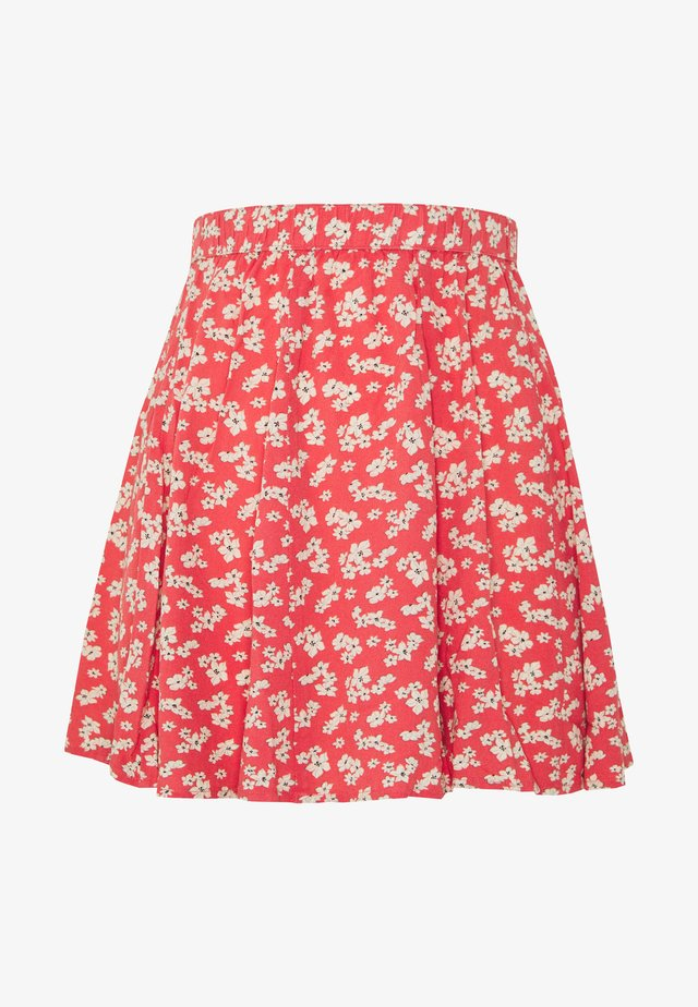 SUPER SKIRTY GODET MINI SKIRT - Gonna a pieghe - red