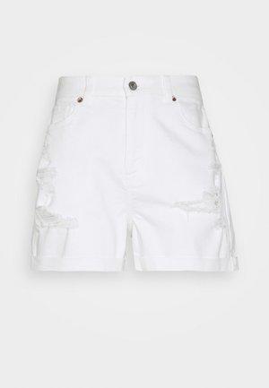 CURVY MOM  - Denim shorts - white