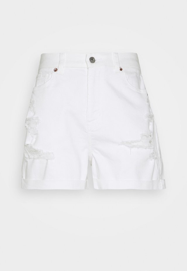 CURVY MOM  - Jeansshort - white