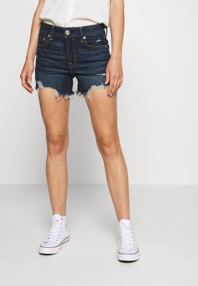 MIDI - Jeans Shorts - medium tinted indigo
