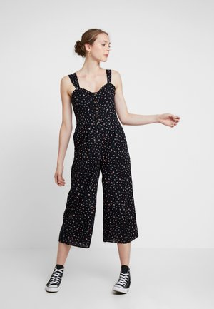 ROUCHED STRAP PLACKET - Tuta jumpsuit - black