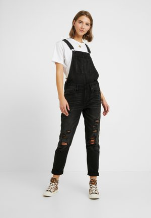 TOMGIRL OVERALL - Snekkerbukse - destroyed black