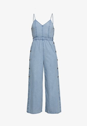 SIDE STRAPPY TIE - Jumpsuit - blue